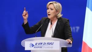 Die französische Präsidentschaftskandidatin Marine Le Pen vom Front National