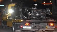 Zerstörter Wagen nach Unfall