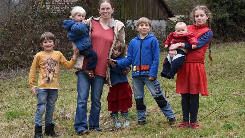 Sarah Schmid mit Familie
