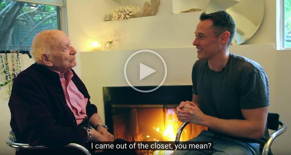 Coming-Out: Mit 95 Jahren hat Roman seiner Familie seine wahre Sexualität verraten.