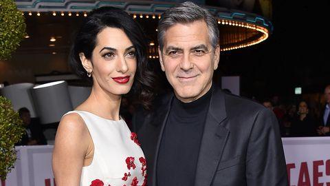 Das US-Traumpaar Amal und George Clooney bei einer Filmpremiere in Los Angeles