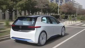 VW I.D. Prototyp auf den Straßen von Lissabon