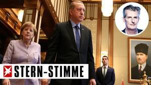 Angela Merkel und Recep Tayyip Erdogan in der Türkei - stern-Stimme von Andreas Petzold