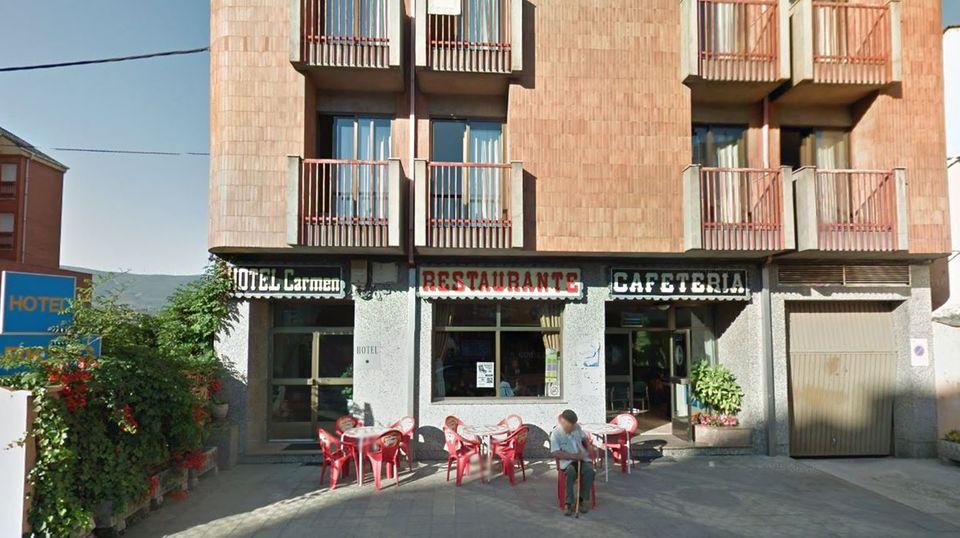 """Das Hotelrestaurant """"El Carmen"""" der Kleinstadt Bembibre in Spanien"""