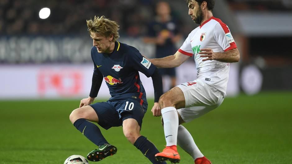 In der Bundesliga haben sich RB Leipzig und der FC Augbsurg unentschieden getrennt