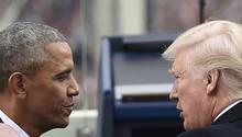 Der ehemalige US-Präsident Barack Obama (l.) und sein Nachfolger Donald Trump werden wohl keine Freunde mehr
