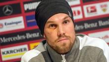 Ex-BVB-Profi Kevin Großkreutz bei seinem tränenreichen Abschied vom VfB Stuttgart