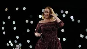 Sängerin Adele bei einem Konzert in Brisbane, Australien.