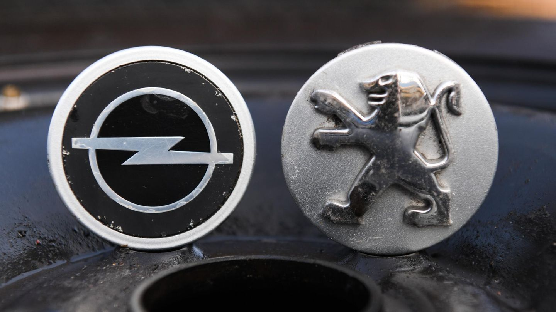 Logos von Opel und Peugeot