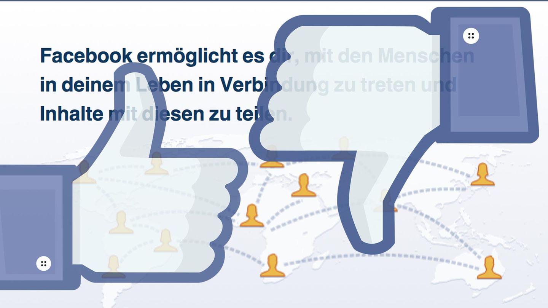 Like- und Dislike-Buttons bei Facebook