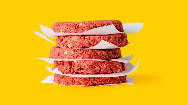 Der vegetarische Patty sieht genau so aus wie Rindfelisch.