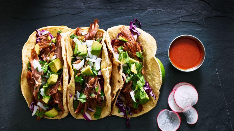 Tacos  Egal in welcher Variation: Echte mexikanische Tacos muss man gegessen haben.
