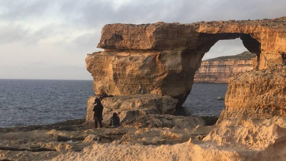 Felsentor auf Malta eingestürzt