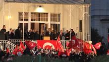 Mevlüt Cavusoglu, Außenminister der Türkei, spricht bei einer Veranstaltung im türkischen Konsulat in Hamburg