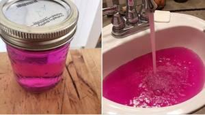 Pinkes Leitungswasser in Kanada
