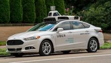Ein selbstfahrendes Uber-Fahrzeug