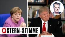 Könnten unterschiedlicher nicht sein: Angela Merkel (l.) und Donald Trump