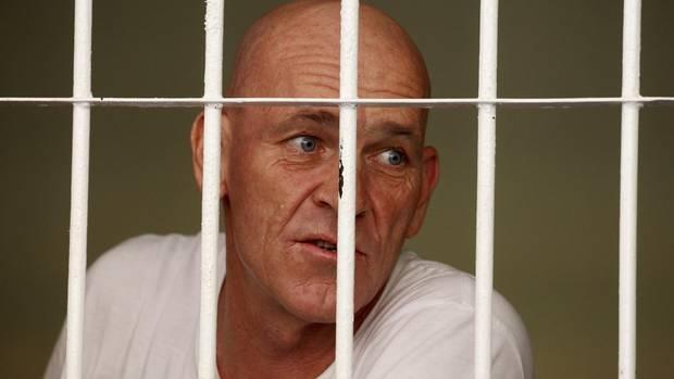 David Fox in seiner Gefängniszelle auf Bali