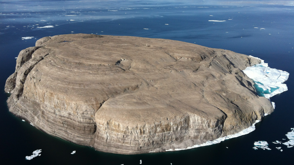 Hans-Insel im Packeis