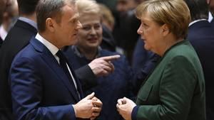 Donald Tusk und Angela Merkel