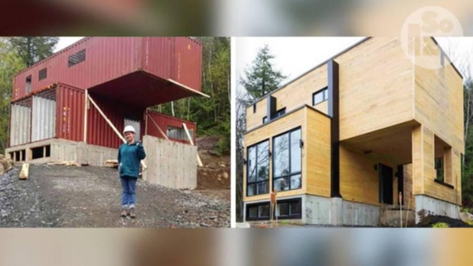Upcycling der anderen Art: Kanadierin baut sich Traumhaus aus Schiffscontainern