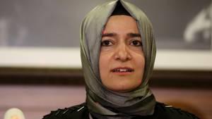 Die türkische Familienministerin Fatma Betül Sayan Kaya