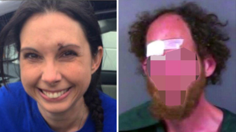 Ein mehrfach vorbestrafter Sexualtäter (r.) griff die Joggerin Kelly Herron (l.) in einem Park in Seattle an