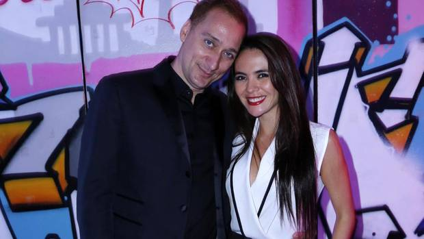 DJ Paul van Dyk mit Margarita Morello bei der Guido Maria Kretschmer Aftershow-Party im Juli 2015 in Berlin.