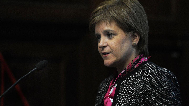 Nicola Sturgeon, Regierungschefin Schottlands, spricht bei einer Veranstaltung der Institution of Civil Engineers