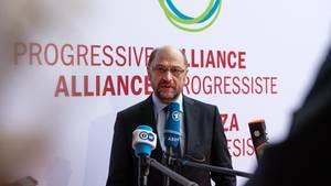 SPD-Kanzlerkandidat Martin Schulz bei einer Konferenz der Progressiven Allianz