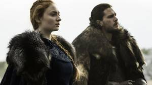 Sansa Stark und John Snow aus Game of Thrones