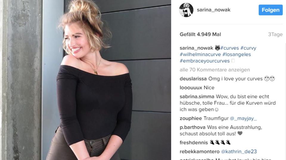 """Sarina Nowak, die """"GNTM""""-Sechstplazierte von 2009, arbeitet jetzt als Plus-Size-Model"""