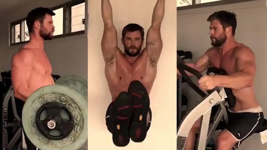 Thor-Darsteller: So viel trainiert Chris Hemsworth für seine Superheldenrolle