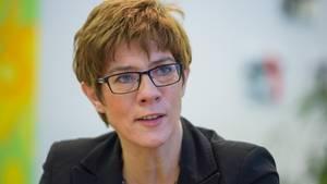 Die saarländische Ministerpräsidentin Annegret Kramp-Karrenbauer