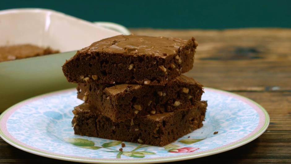 Rezept mit Nutella: Diese Nuss-Nougat-Brownies werden Sie umhauen