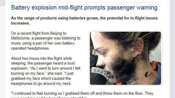 Das Gesicht einer jungen Frau ist teilweise rußgeschwärzt