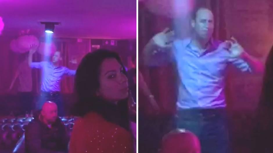 Royaler Partyspaß: So ausgelassen tanzt Prinz William im Club