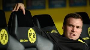 Kevin Großkreutz auf der Bank der BVB - Er könnte sich bei Borussia Dortmund wohl fit halten