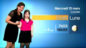 Mélanie Ségard (21, r.) hat sich ihren großen Traum erfüllt und mit den Wetterbericht im französischen Fernsehen präsentiert.
