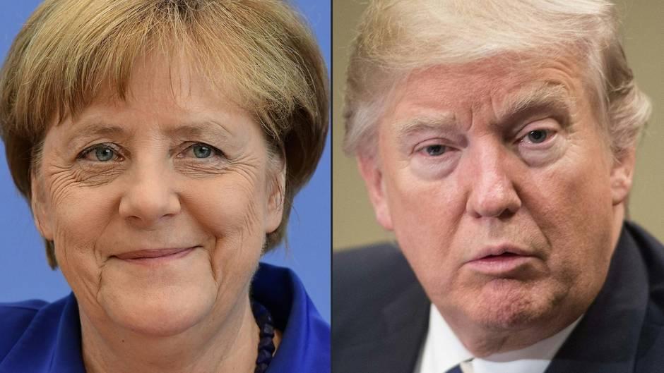 Bizarrer Handschlag und Co.: Das erwartet Merkel beim Trump-Besuch