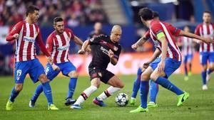 Bayer Leverkusen gegen Atlético Madrid