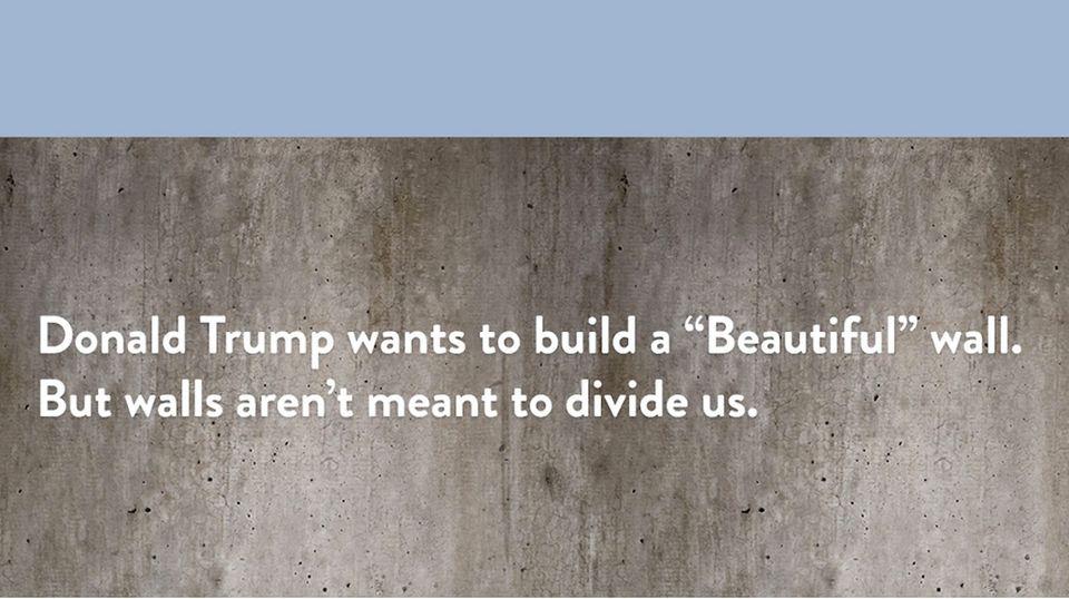 Trump-Protest: Kunst-Aktion gegen Trump: Diese Mauer soll Menschen vereinen