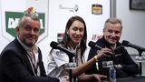 BMW M6 GTLM 2017 - Pressekonferenz mit BMW-Kulturmann Girst, Baldessari-Kreativfrau Amanda und BMW Motorsportchef Marquardt