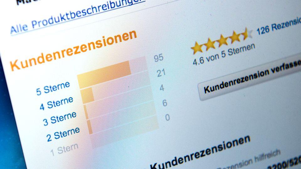 Gefälschte Kunden-Bewertungen