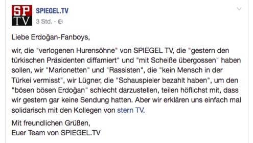 Shitstorm für Spiegel TV