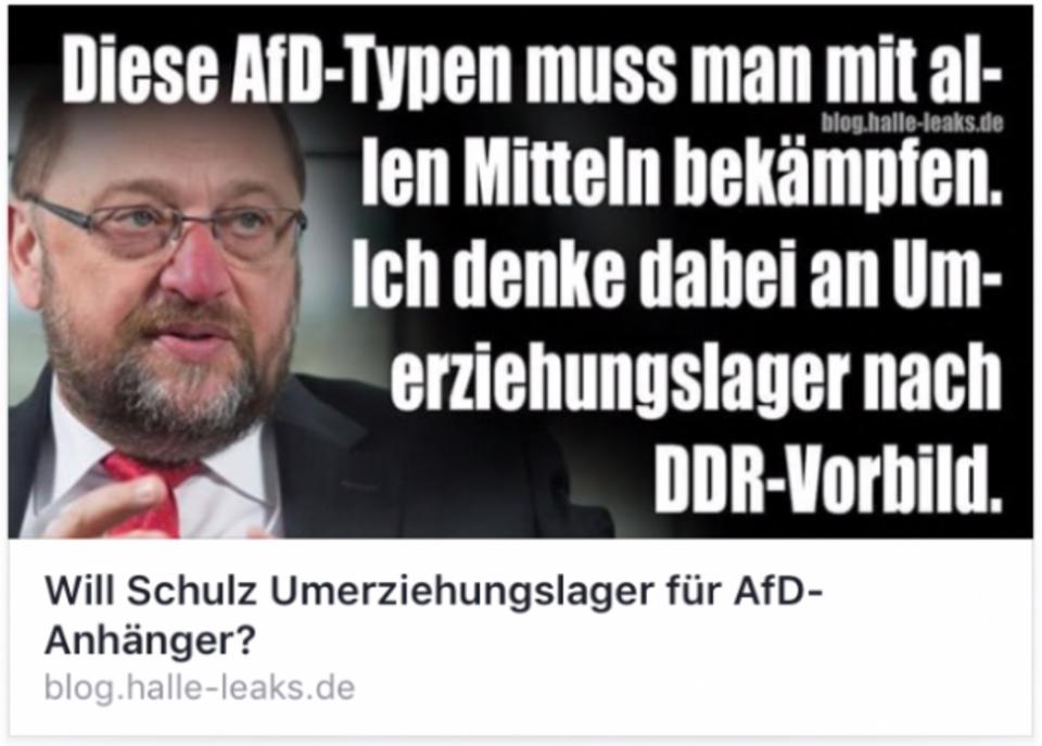 Ein verfälschtes Zitat von SPD-Kanzlerkandidat Martin Schulz