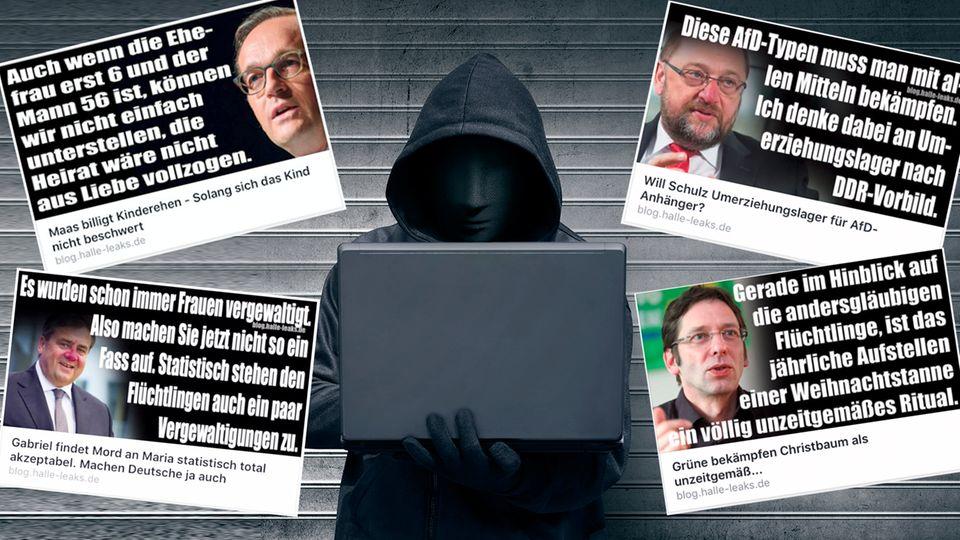 """""""Halle Leaks"""": Eine rechte Seite und ihre Fake News"""