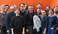 Müde, aber glücklich: die (fast) ganze Nido-Redaktion nach dem Relaunch