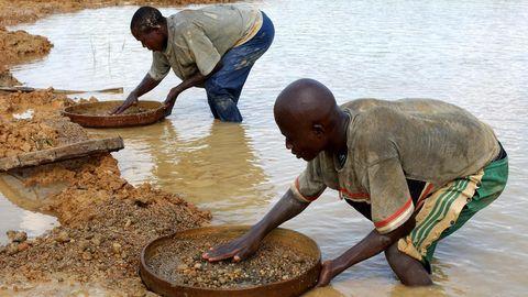 Sierra Leone Diamanten Schürfer