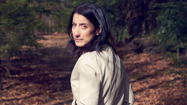 Maria G. in einem Wald bei Stuttgart. Sie lebt nun wieder in Deutschland.